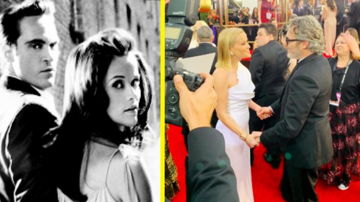 "Reese Witherspoon Reunites With ""Walk The Line"" Co-Star Joaquin Phoenix At Golden Globes"