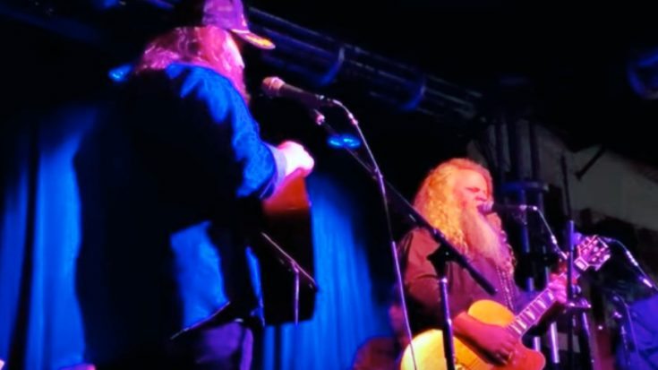 "Chris Stapleton & Jamey Johnson Team Up To Sing ""In Color"" At Benefit Concert In Nashville"