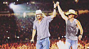 "Kenny Chesney & Kid Rock Come Together To Honor Waylon Jennings With ""Luckenbach, Texas"""