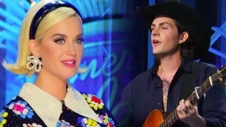 """Idol"" Hopeful Sings ""Make You Feel My Love,"" Katy Perry Calls Him ""Country Post Malone"""