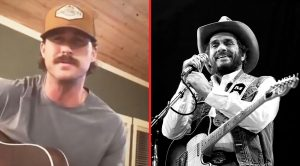 Riley Green's Quarantine Stache On Full Display During Merle Haggard Tribute