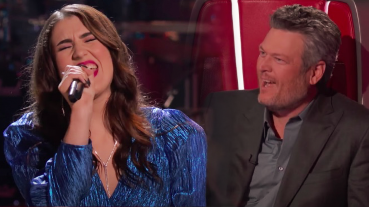 """Blake Steals From Team Legend After """"Angel From Montgomery"""" Knockout On """"The Voice"""""""