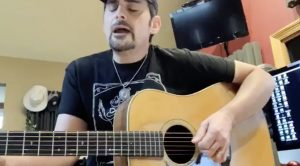 """Brad Paisley Cries During At-Home """"In The Garden"""" Performance"""