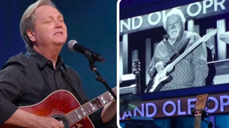 "Steve Wariner Honors Jimmy Capps With ""Holes In The Floor Of Heaven"" At Opry 