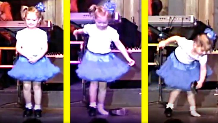 5-Year-Old Clogger At The Kentucky Opry Loses Her Shoe – But Keeps Going
