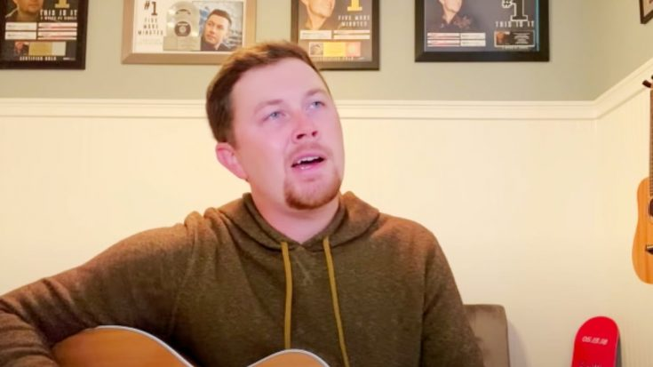 """Scotty McCreery Delivers Ode To 90s Country By Singing """"Strawberry Wine"""""""