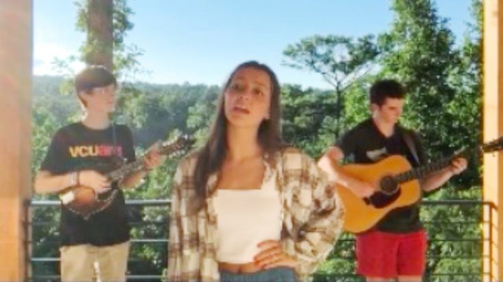 "Sara Evans' 17-Year-Old Daughter, Olivia, Sings Alison Krauss' ""Every Time You Say Goodbye"""