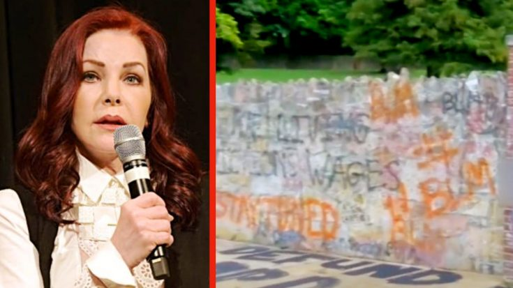 "Priscilla Presley Says She's ""Appalled"" By Vandalism At Graceland 