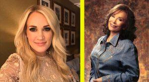 "Carrie Underwood Recalls Meeting Loretta Lynn: ""She Smacked My Rear"""