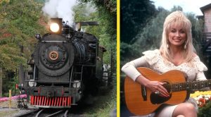 Historic Dollywood Express Train Catches Fire