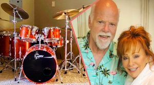 Reba Gives Boyfriend Rex Linn A Drum Set For His Birthday