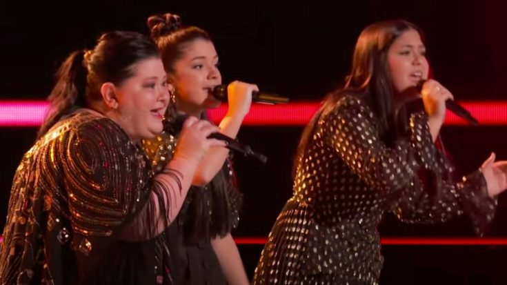 """Voice"" Trio Worth The Wait Wins Knockout By Singing ""Delta Dawn"""