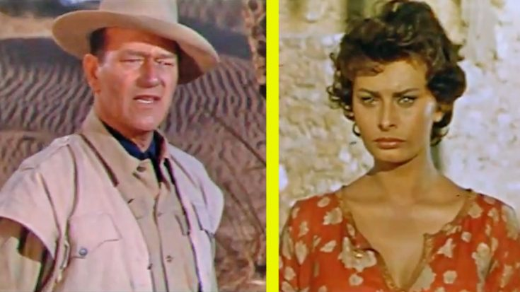 Actress Sophia Loren Recalls Working With John Wayne   Classic Country Music Videos