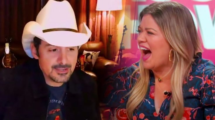 Brad Paisley Makes Kelly Clarkson Laugh Over Song About Being Single On Valentine's Day
