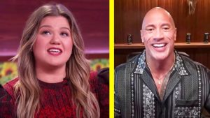 """Kelly Clarkson Invites """"The Rock"""" To Duet, He Sings """"Islands In The Stream"""""""