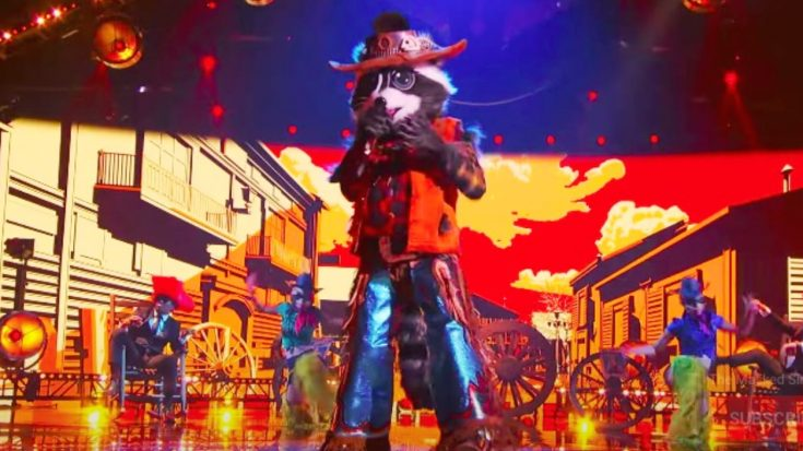 """Raccoon Eliminated From """"Masked Singer"""" After Singing Johnny Cash's """"Ring Of Fire"""""""