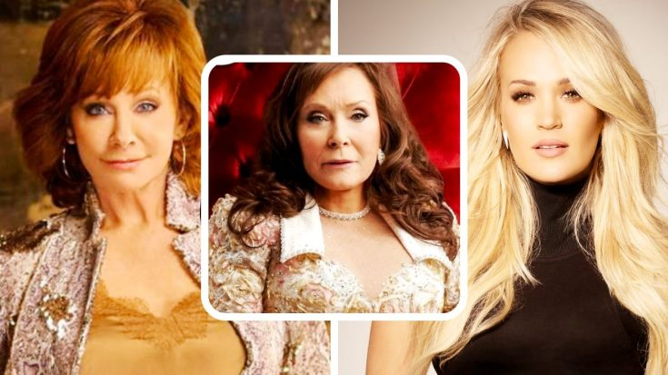 "Carrie Underwood & Reba McEntire Sing With Loretta Lynn On New Song, ""Still Woman Enough"""