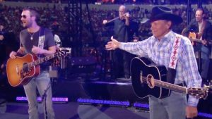 Eric Church Tells Story Of George Strait Dancing To James Brown