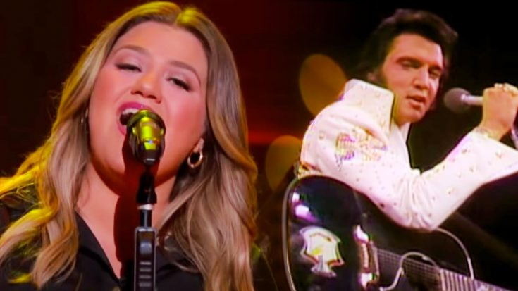 "Kelly Clarkson Puts Her Spin On Elvis' ""Burning Love"" 