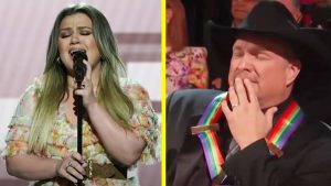 """Garth Brooks Cries During Kelly Clarkson's Performance Of """"The Dance"""" At Kennedy Center Honors"""