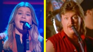 Kelly Clarkson Honors The Late Joe Diffie During Talk Show
