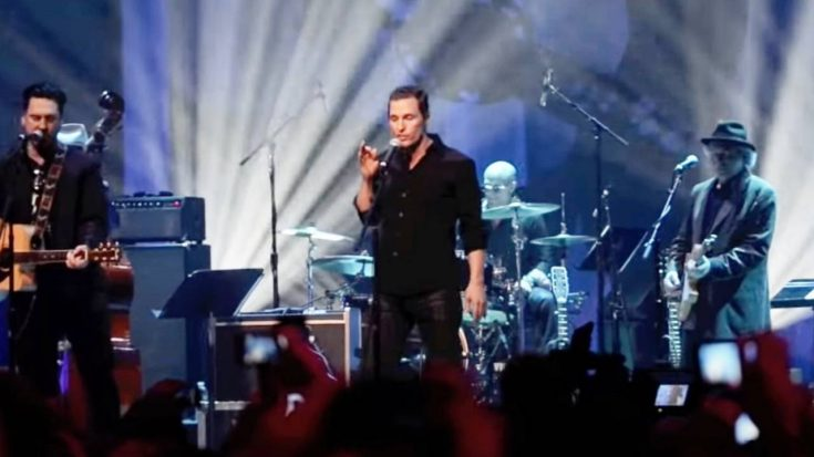 Matthew McConaughey Sings Johnny Cash For Live Audience   Classic Country Music Videos