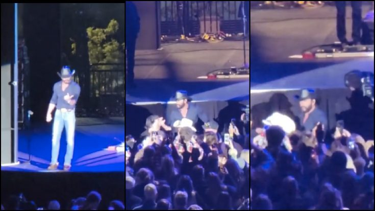 Tim McGraw Jumps Off Stage To Confront Hecklers During Concert